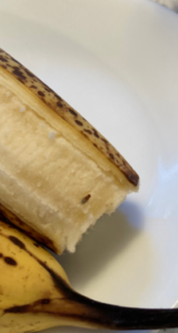 Image of a fruit fly on a banana